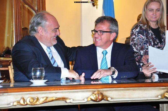 Ricardo Colombi y Juan Félix Alba Loaiza.