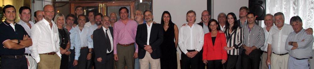 Médicos del HAC, junto al ministro Décima y el administrador Crocci.