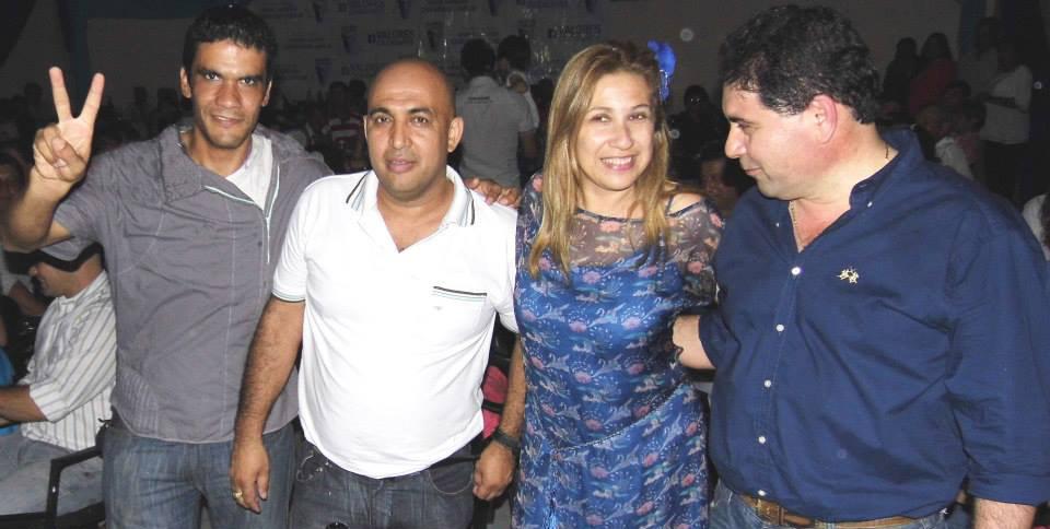 Hasta ahora, Fabi Rodríguez se suma al bloque de VC. Aquí, junto a Mycha Bernal, Di Martino y el Indio Vega.