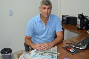Ricardo Buryaile en la redacción del diario Formosa Expres