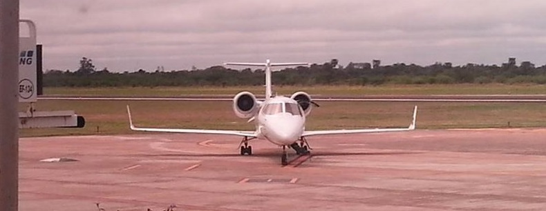 La aeronave que trajo a Mauricio Macri