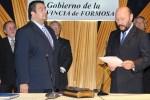 Diciembre 2011. González jura otra vez como ministro de Gobierno. Había quedado atrás el suceso de La Primavera. Fue ratificado.