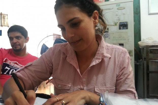 Lourdes Coronel, madre de Belén.