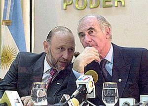 Con De La Rúa en Casa de Gobierno.