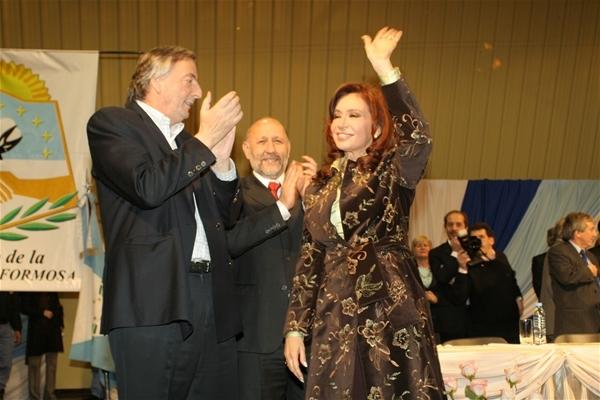 Con Néstor y Cristina en el Anfiteatro. Foto: Archivo