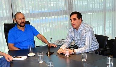 Gobernador Insfrán, con el ministro Décima.