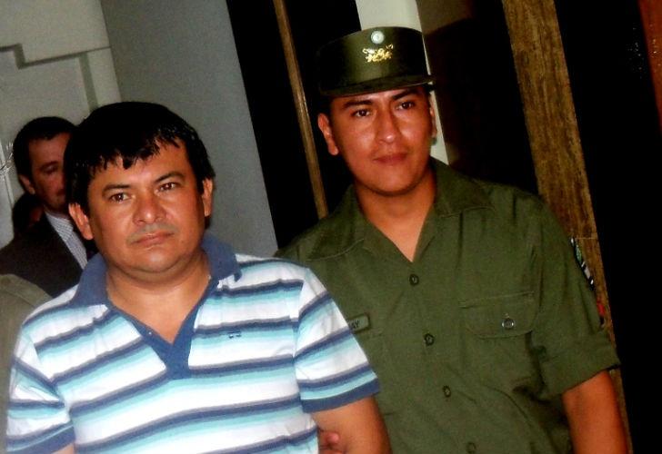 Palmita, llevado a declarar por primera vez ante el entonces juez federal Quinteros (foto archivo 2011)