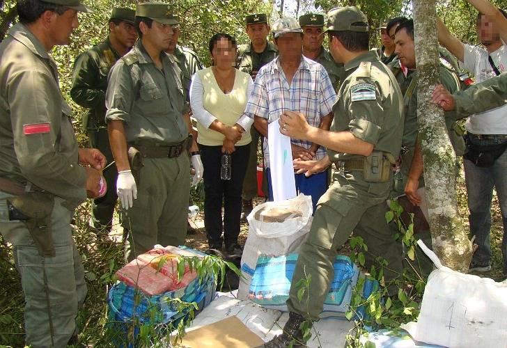 El día que GN encontró la droga en un campo de Estanislao del Campo.