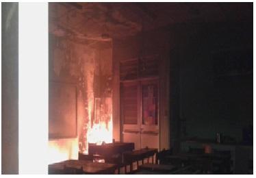 Incendio Escuela