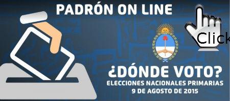 Consulte dónde Vota / Hacer click