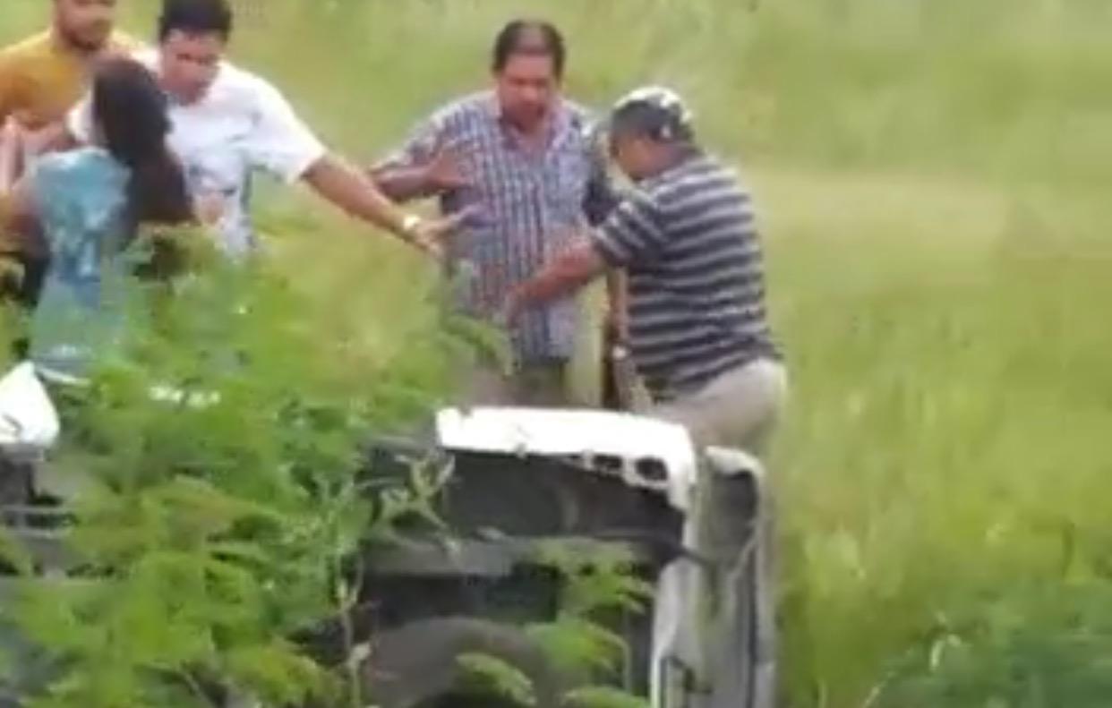 Captura de video del momento del procedimiento de la Policía Federal