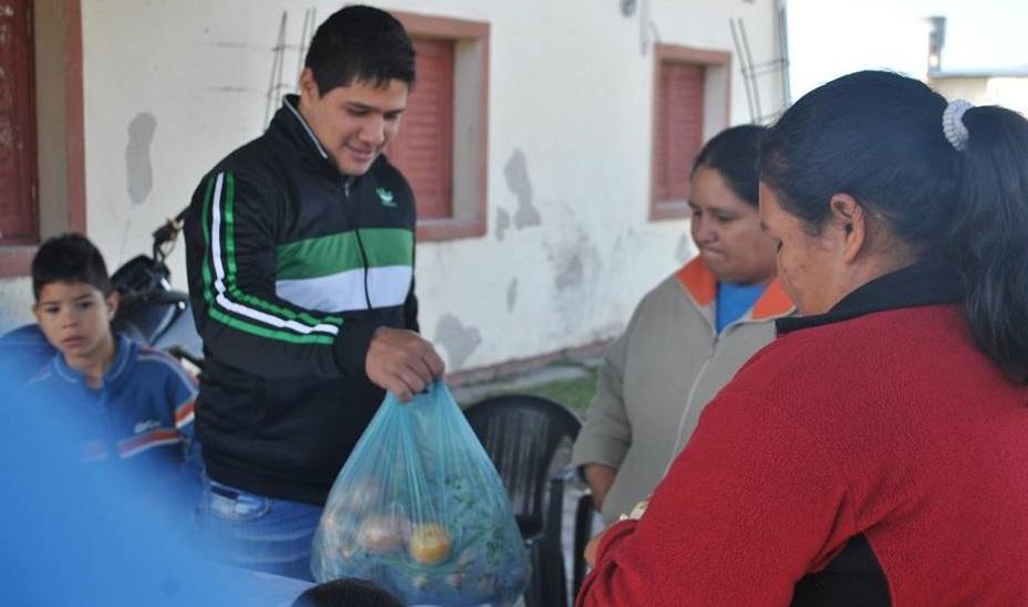 Las tareas comunitarias se realizan en diferentes barrios de la ciudad capital