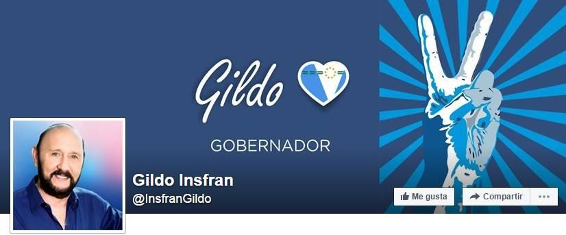 Cuenta de Facebook de Gildo Insfran.