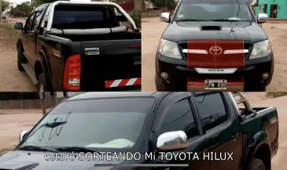 Fernando Reyna camioneta Toyota
